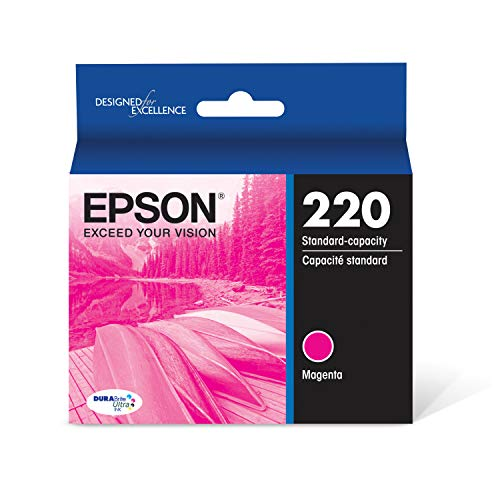 - Epson T220320 DURABrite Ultra Magenta Standard Capacity Cartridge Ink (WF-2760, WF-2750, WF-2660, WF-2650, WF-2630, XP-424, XP-420, XP-320)