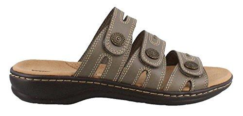 CLARKS Womens, Leisa Lakia Slide On Sandals Sage 7 M