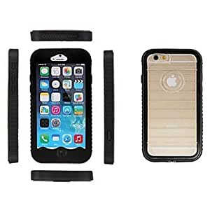 DDL UltraSlim Waterproof Protective Full Body Case for iphone 6 (Assorted Colors) , Black