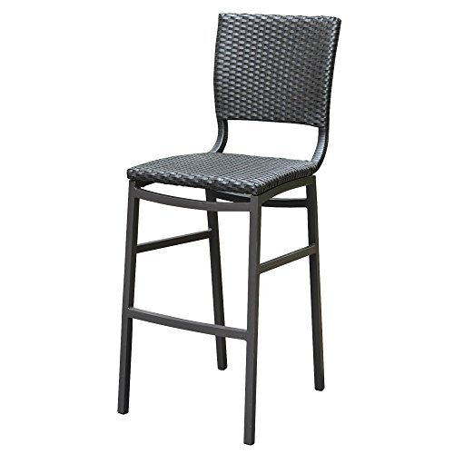 (International Caravan Barcelona Patio Bar Stool in Brown (Set of)