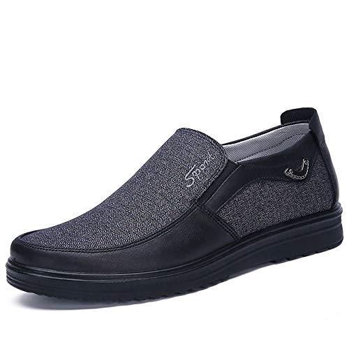 Nero grandi di Espadrillas Slip Old dimensioni Colore EU 46 Dimensione slip Shoes Non Comode Qiusa Beijing Soft Cloth Grigio Mens Slip On qw64TO7x