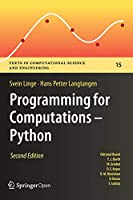 Programming for Computations – Python, 2nd Edition Front Cover