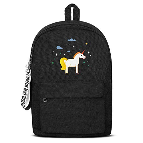 Unicorn Rainbow Miracle Star (2) Canvas Backpack for Men Women Classic Satchel Waterproof Backpack