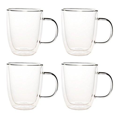 16 oz glass coffee mug set - 5