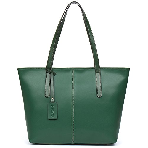 Green Leather Handbag - 5