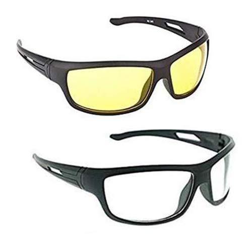 9dcef35c419e ELLIGATOR Driving at Day and Night Fishing Outdoor Anti Glare Unisex  Sunglasses (64 mm