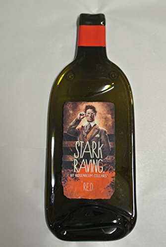 STARK RAVING RED Melted Wine Bottle Cheese Serving Tray - Wine Gifts