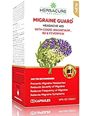 MIGRAINE GUARD ® NEW Headache Prevention , Clinically Proven COQ10, VIT B2, FEVERFEW, MAGNESIUM GLYCINATE , SKULLCAP , Exceptional response during Trials *NEW