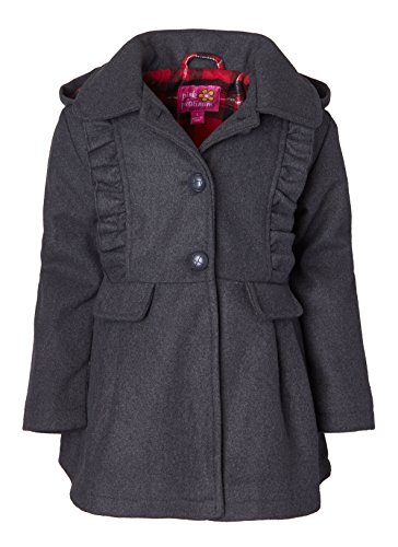 Wool Blend Hooded Coat - 3