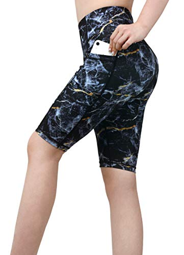 DOP DOVPOD Yoga Shorts Compression High Waist Out Pocket Tummy Control Workout Running Athletic Short (Dop Mobile)