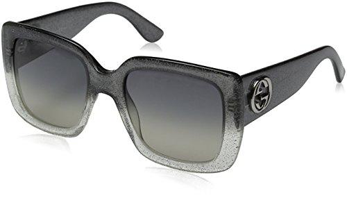 Gucci Women's GG 3814/S Glitter Gray/Dark Gray Shade Sunglasses
