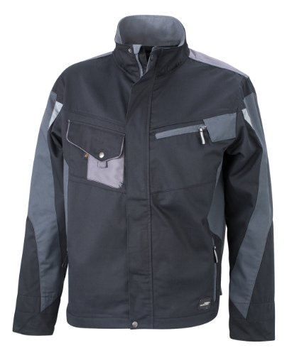 jn821 James & Nicholson, Messieurs, Workwear Jacket Cordura Noir