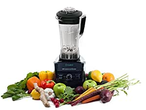 Blender By Cleanblend: 3HP 1800-Watt Commercial Blender, Mixer with a 64 ounce BPA Free Container, Stainless steel 8 blade assembly, includes Tamper, smoothie maker, home blender