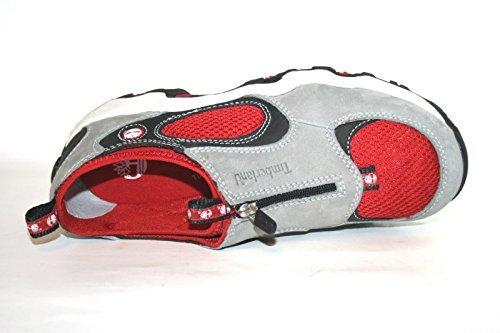 Timberland 63988 Jungen Halbschuhe Grau (Grey/Red)