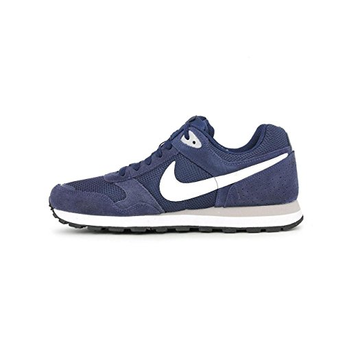 Nike MD RUNNER TXT SP15, Sneaker, Uomo Blu (Midnight Navy/White-wolf Grey)