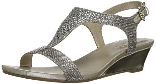Bandolino Womens Gruglia Wedge Sandal Guld