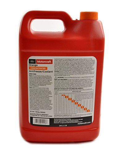 Ford Genuine Fluid VC-3-B Orange Concentrated Antifreeze/Coolant - 1 Gallon by Ford (Image #1)