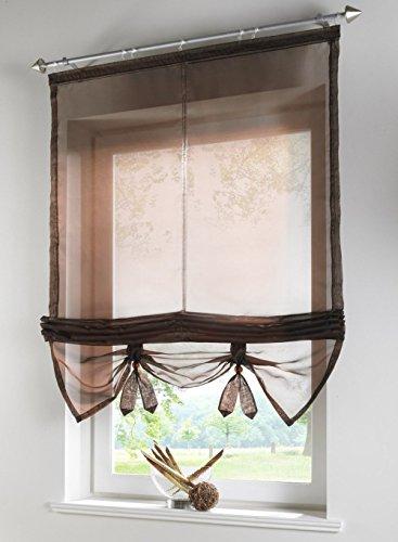 Uphome 1pcs Liftable Organza Kitchen Balcony Curtains - T...