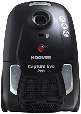 Hoover BV71_CP20 Capture Pets Bagged Cylinder Vacuum Cleaner, 700 W, BlackGrey