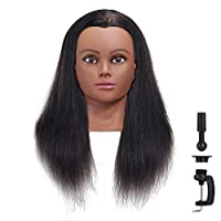 "Hairginkgo 18-20"" 100% Human Hair Training Practice Head Styling Dye Cutting Mannequin Manikin Head (91806B0212)"