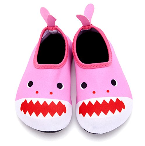 Giotto Kids Swim Water Shoes Quick Dry Non-Slip For Boys & Girls E-pink pEtb57