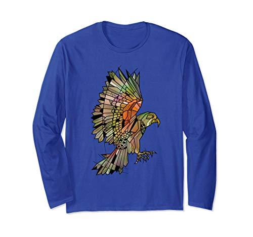- Kea New Zealand bird geometric Long Sleeve T-Shirt