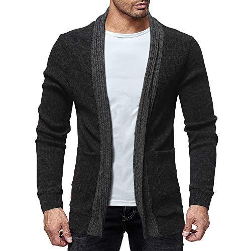 Dry Tech Nano Jacket - iYYVV Mens Fashion Solid Knit Cardigan Sweater Sweatshirts Casual Slim Jacket Coat Black
