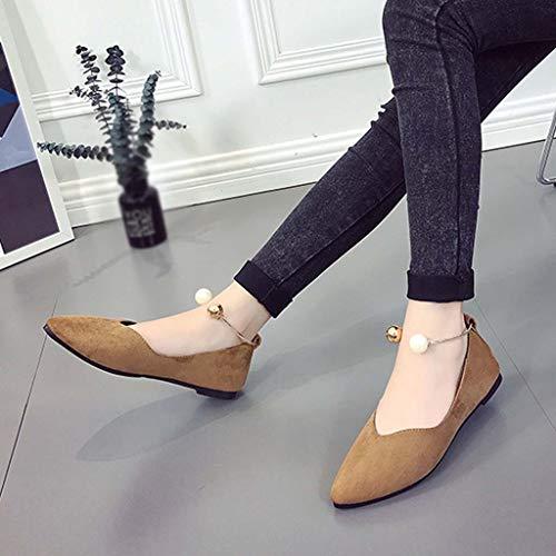 Paolian Zapatos Terciopelo Rosa Sandalias Puntiagudo Caqui 2019 Boda Para Primavera Negro De Calzado Perla Tallas Verano Plano Grandes Dama Elegantes Mujer Con Suave Vestir Fiesta UFU81A