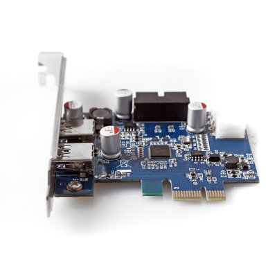 GMYLE (TM) PCI-Express USB 3.0 2 Ports Front Panel with 4-Pin Molex Power & 19(20) Pin Connector NEC D720202 Chipset Control Card Adapter by GMYLE (Image #1)