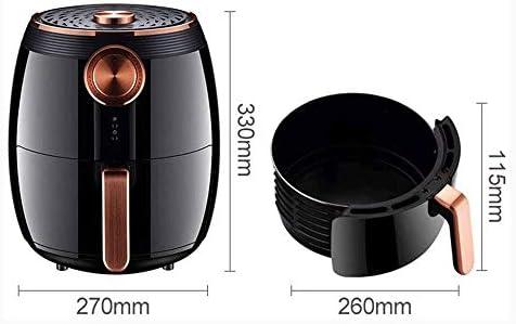 Friteuse Sans Huile Air Fryer, 1400W électrique intelligent d'air chaud Fryer, 360 degrés d'air chaud Cycle, 4.5L Capacité écran LED tactile numérique ceinture, panier non-bâton