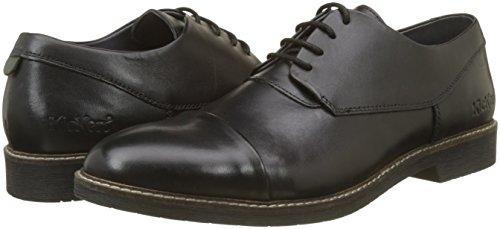 Matys, Zapatos de Cordones Derby para Hombre, Negro (Noir 8), 45 EU Kickers