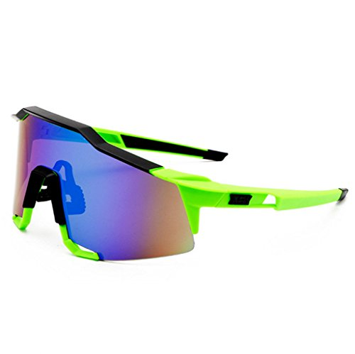 Montañismo de Deporte Material Gafas PC a Pesca Prueba explosiones Green de 5fgWwq
