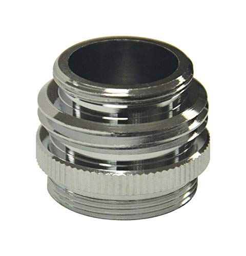 (DANCO Multi-Thread Garden Hose Adapter for Male to Male and Female to Male, Chrome, 1-Pack)