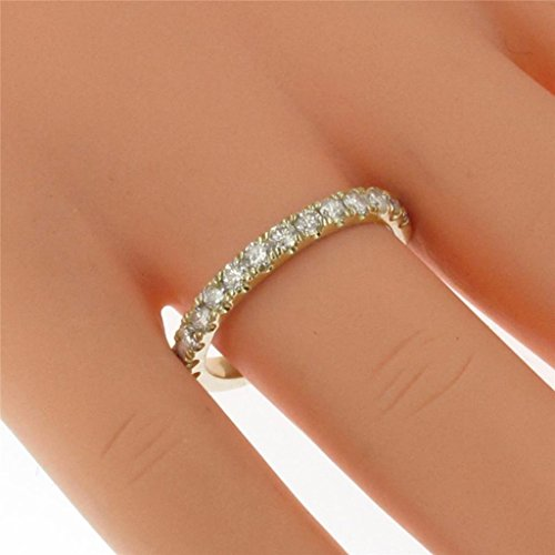 0.55 CT TW Pave Set Diamond Anniversary Wedding Ring in 14k Yellow Gold