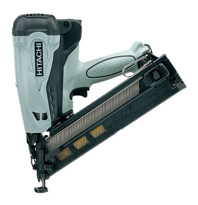 HITACHI NT65GA - 2 1/2\ 15 Ga. Angle Finish Nailer (34 degree) - Gas  inch