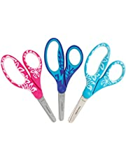 Fiskars Kids Scissors Blunt Tip, 5 Inch, Softgrip, 3 Pack