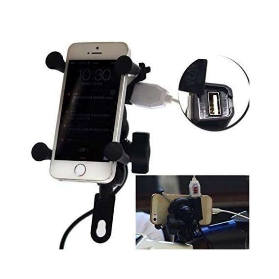 DELHITRADERSS Motorcycle Cycle Bike Mobile Holder GPS Smartphone Stand Holder