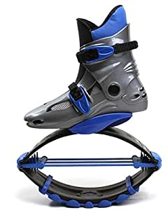 Huifen Creative Jumping Kangaroo Bouncing Anti-Gravity Running Fitness Exercise Shoes Boots (Blue, 5.5-7 For adult: 110lb-154lb)