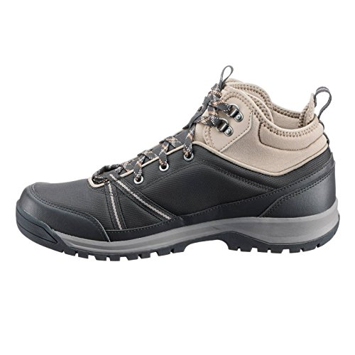 bcc230ac2b1 Quechua NH300 Mid Waterproof Men s Nature Hiking Boots - Black  Buy Online  at Low Prices in India - Amazon.in