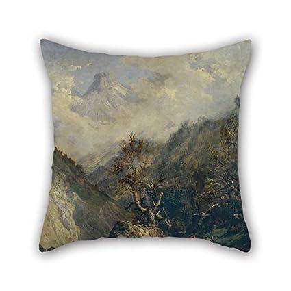 Amazon.com: Oil Painting Carlos De Haes - Mountains In ...