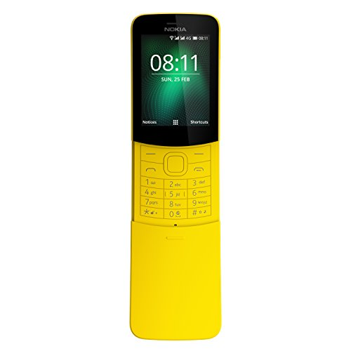 - Nokia 8110 4G Duos AT&T Locked KaiOS Phone - Banana Yellow (Renewed)