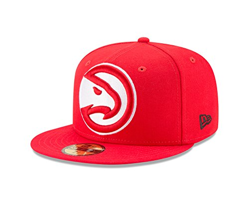 NBA Atlanta Hawks Logo Grand Fitted 59Fifty Cap, 7.25, Red (Atlanta Hawks Fitted Cap)