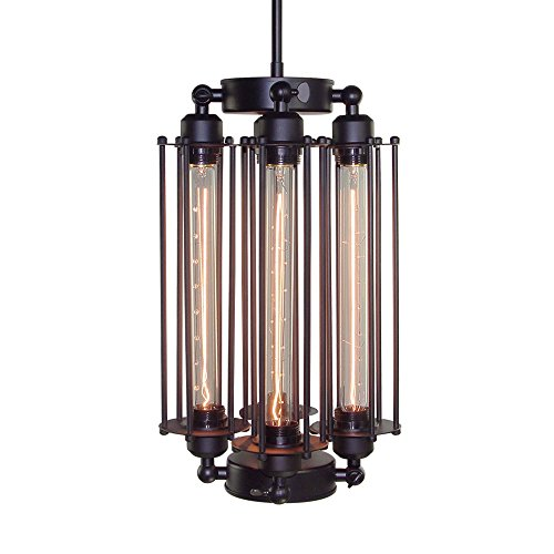 LNC Industrial Pendant Lights Wire Cage Pendant Lighting