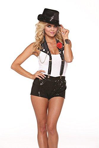Gotta B Gangsta Pinstripe Suspender Costume -