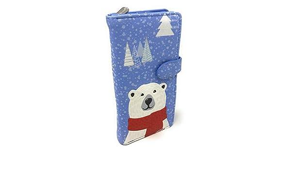 Funny Polar Bear Zip Around Women Organizer Wallet Clutch Long Purse