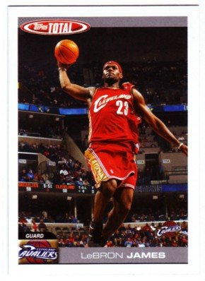 2004-05 Topps Total Basketball Cards #4 Lebron James Cleveland Cavaliers