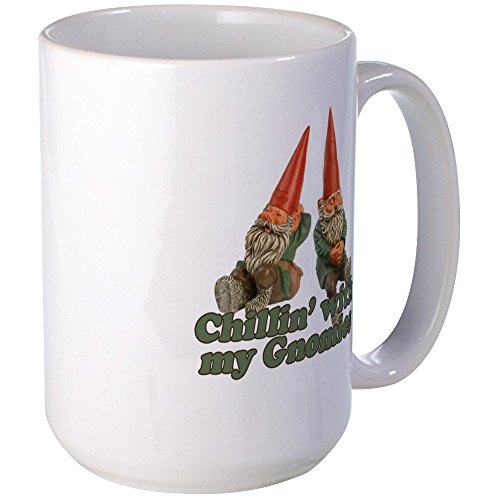 CafePress – Chillin' With My Gnomies Mugs – Coffee Mug, Large 15 oz. White Coffee Cup 41WAjlzU8ZL