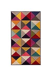 Rugs With Flair Spectrum Samba - Tapis de créateur/Tapis Moderne - Motif Abstrait - Multicolore 160 x 230cm