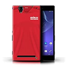 STUFF4 Phone Case/Cover for Sony Xperia T2 Ultra/Portugal/Portuguese Design/World Cup 2018 Football Shirt Collection