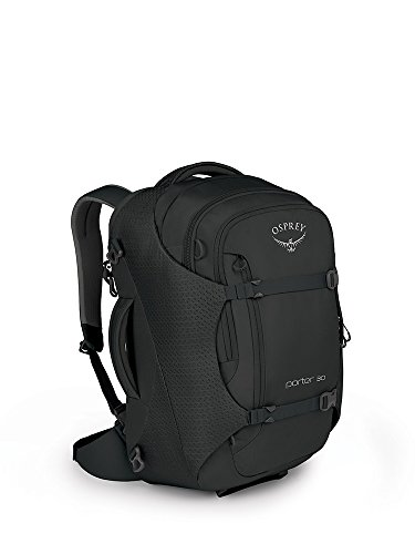 Osprey Packs Porter 30 Travel Backpack, Black, One Size